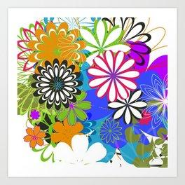 Art Flowers V17 Art Print