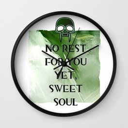 No Rest Wall Clock