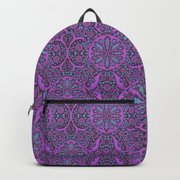 Poppy Pods Fuchsia and Turquoise Backpack