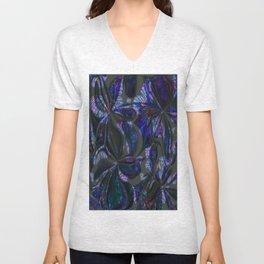 Dark Butterfly Collage Swirl Unisex V-Neck