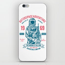 Outer space Adventure - Born to be an astronaut iPhone Skin