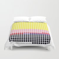lichtenstein Duvet Covers featuring Girl with Hair Ribbon (Roy Lichtenstein) color-sorted by Clemens Hellmund