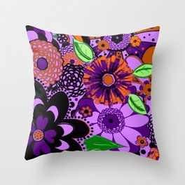 Flowers To Go Throw Pillow