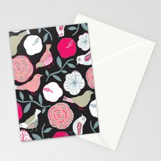 Birds and flowers Stationery Cards