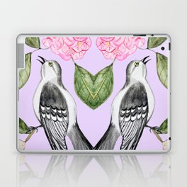 Mockingbird and camellia watercolor painting To Kill a Mockingbird Laptop & iPad Skin
