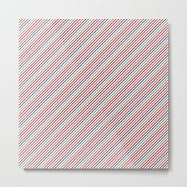Geometrical violet red orange modern stripes pattern Metal Print
