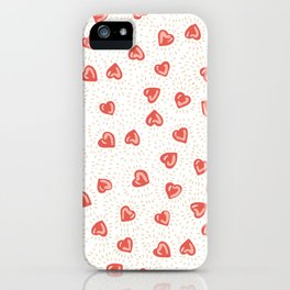 Sparkly hearts iPhone Case