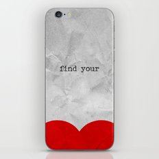 find your half (1 of 2 parts)  iPhone & iPod Skin