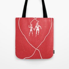 Love Space, Red Tote Bag