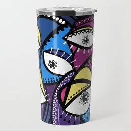 The Abstract Doodle Gang Travel Mug