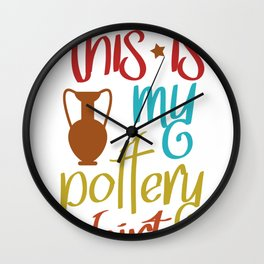 pottery clay gift crafts ceramics potters Wall Clock