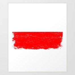 POLISH FLAG POLAND Retro Vintage Gift Polska Art Print