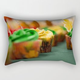 Frosted Leaf Cupcakes Photograph Rectangular Pillow