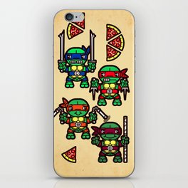 Teenage Mutant Ninja Turtles Pizza Party iPhone Skin