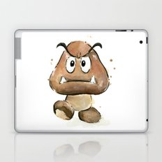 Goomba Watercolor Painting Mario Gamer Videogame Art Laptop & iPad Skin