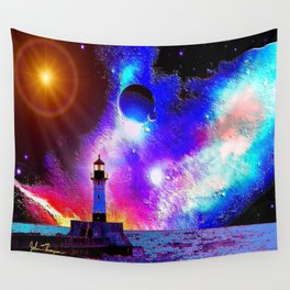 Lighthouse to the stars Wall Tapestry