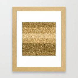 Glitter Glittery Copper Bronze Gold Framed Art Print