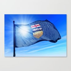 Alberta (Canada) flag waving on the wind Canvas Print