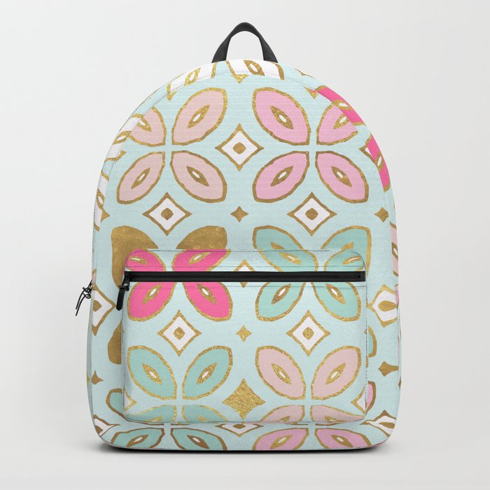 MORROCCAN TILE - ALEXA SPRING MINT Backpack