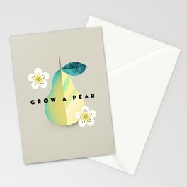 Grow a Pear Stationery Cards