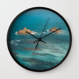 Na Mokulua Islands off Oahu's Coast Wall Clock