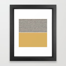 Texture - Black Stripes Gold Framed Art Print