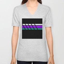 Team Colors 4..Aqua, purple Unisex V-Neck
