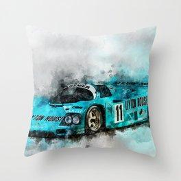 962 Le Mans 1987 Throw Pillow