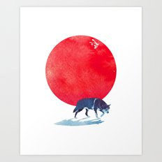 Fear the red Art Print