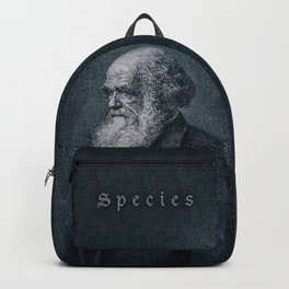 Species / Vintage portrait of Charles Darwin Backpack