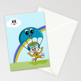 The parachute Stationery Cards