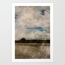 Windy Beach Day Art Print