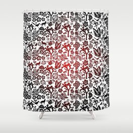 Joshua Tree Heart RED by CREYES Shower Curtain