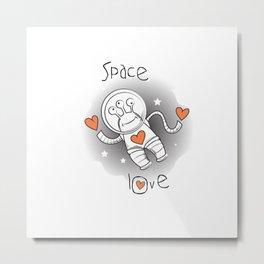 Space love. Metal Print