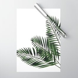 Tropical Exotic Palm Leaves I Wrapping Paper