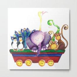 Animals wagon Metal Print