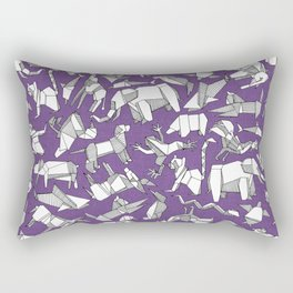 origami animal ditsy purple Rectangular Pillow