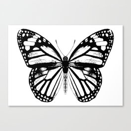 Monarch Butterfly | Vintage Butterfly | Black and White | Canvas Print