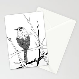 bird on white Stationery Cards
