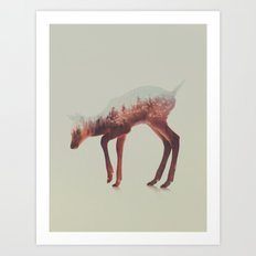 Norwegian Woods: The Deer Art Print