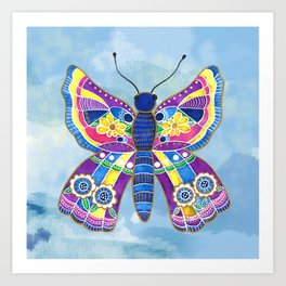 Butterfly I on a Summer Day Art Print