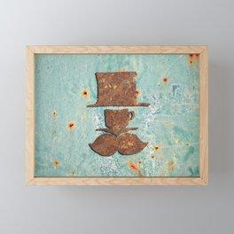 Rusty coffee shop sign Framed Mini Art Print