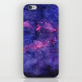Galaxy Pattern Watercolor iPhone Skin