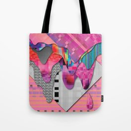 drippy pink Tote Bag