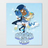 magical girl Canvas Prints featuring Magical Girl by Shadyfolk