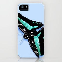 Papillon vert iPhone Case