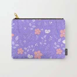 Cute bird and flower pattern Carry-All Pouch