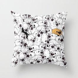 pug gang Throw Pillow