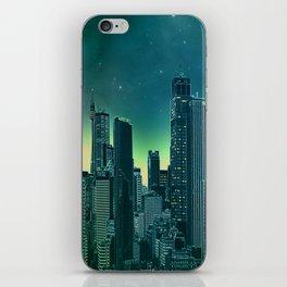 Night city [turquoise] iPhone Skin