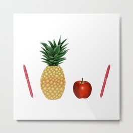 Pen Pineapple Apple Pen - PPAP - Homage - Funny - 57 Montgomery Ave Metal Print